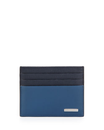 Colorblock Mixed Card Case, Blue/Navy