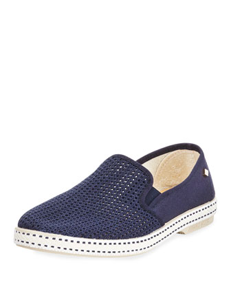 Woven Canvas Slip-On, Navy