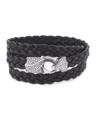 Rayman Multi-Wrap Men's Bracelet, Black