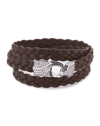 Rayman Multi-Wrap Men's Bracelet, Brown