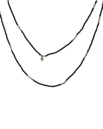 Bead & Silver Thorn-Spacer Men's Chain