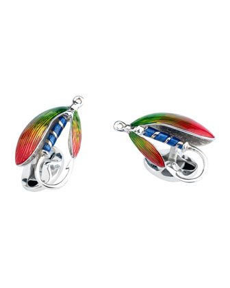 Fly Fishing Sterling Silver Cuff Links