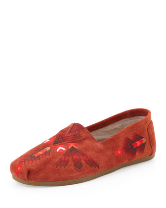 Sienna Arrows Suede Slip-On, Red
