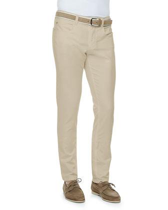 Comfort Dyed Lightweight-Cotton Pants, Light Ivory