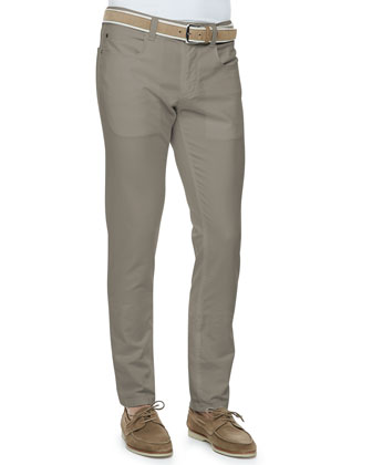 Comfort-Dyed 5-Pocket Pants, Dark Bark