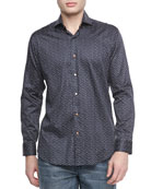 Heidi Star-Print Sport Shirt, Black