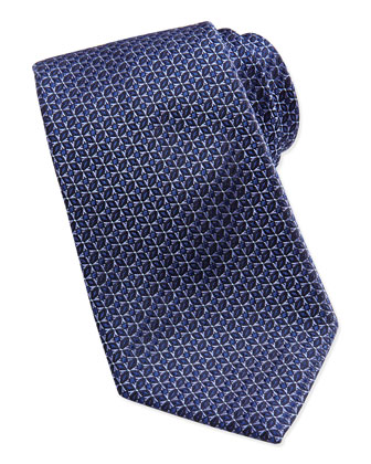 Star Medallion Tie, Blue