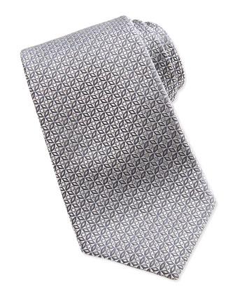 Star Medallion Tie, Silver