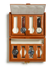 The Timekeeper Leather Watch Case, Brown