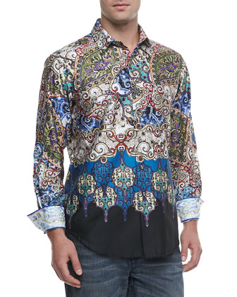 Man Friday Printed Sport Shirt, Multi