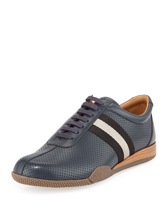 Frenz Perforated Low-Top Sneaker, Blue