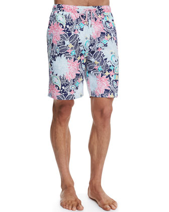 Tropical Paisley Swim Trunks