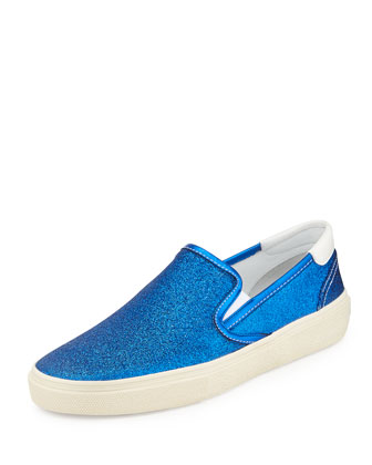 Slip-On Sparkle Skate Shoe, Blue