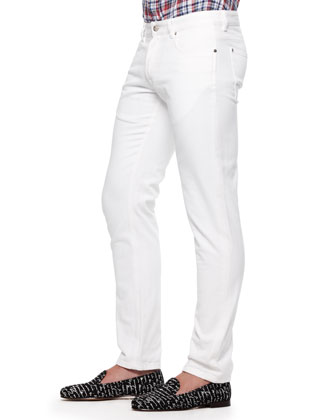 Slim-Fit Jeans, White