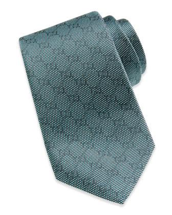 Woven GG Silk Tie, Emerald