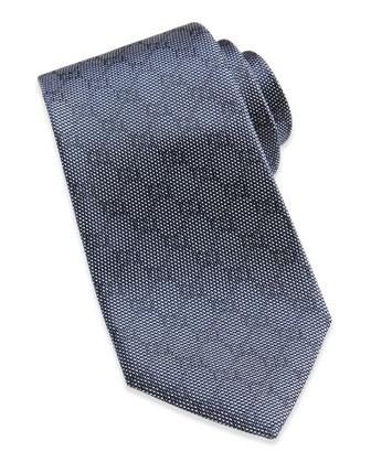 Woven GG Silk Tie, Blue