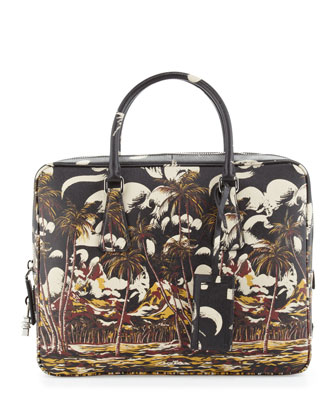 Beach Scene Saffiano Briefcase