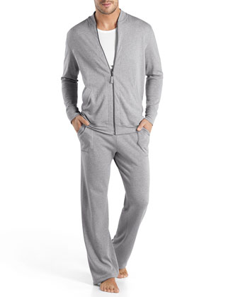 Robin French-Terry Zip Jacket, Gray
