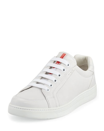 Avenue White Leather Low-Top Sneaker