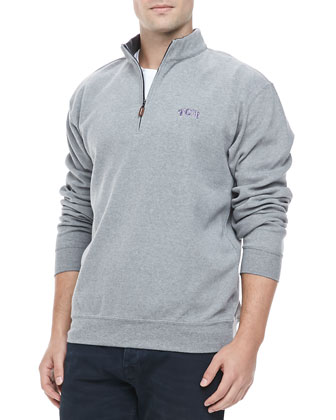 Gameday TCU 1/4-Zip Fleece Pullover, Gray
