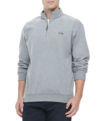 Gameday Georgia Tech 1/4-Zip Fleece Pullover, Gray