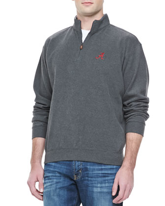 Gameday Alabama 1/4-Zip Fleece Pullover, Charcoal