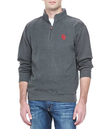 Gameday OU 1/4-Zip Fleece Pullover, Charcoal
