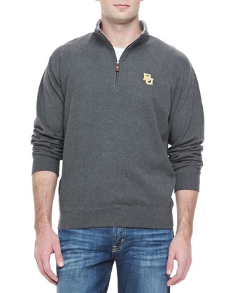 Gameday Baylor 1/4-Zip Fleece Pullover, Charcoal