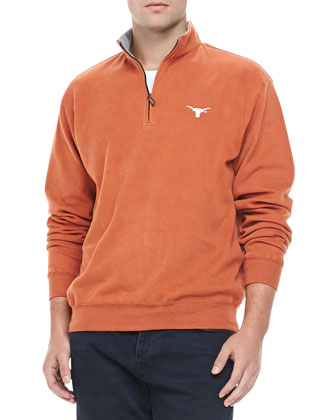 Gameday Texas Longhorns 1/4-Zip Fleece Pullover, Orange