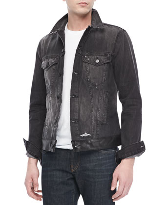 Owen Jean Jacket, Destroyed Black