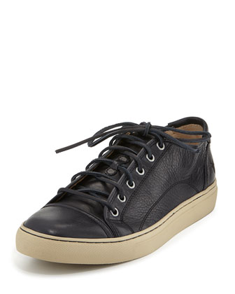 Men's Justin Leather Low-Top Sneaker, Navy
