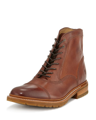 James Balmoral Lug Boot, Redwood