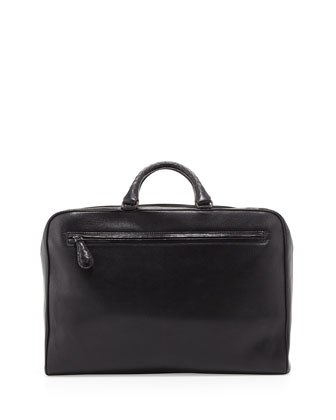 Brera Multi-Zip Leather Briefcase