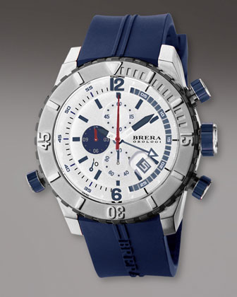 Diver Watch, Blue/White