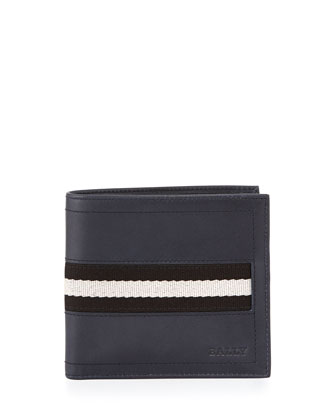 Tollen Web-Detail Wallet, Navy