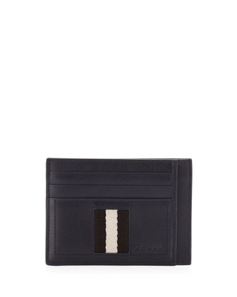 Web-Trim Flat Credit Card Holder, Navy
