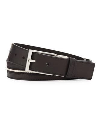 Tamer Reversible Web-Stripe Belt, Black
