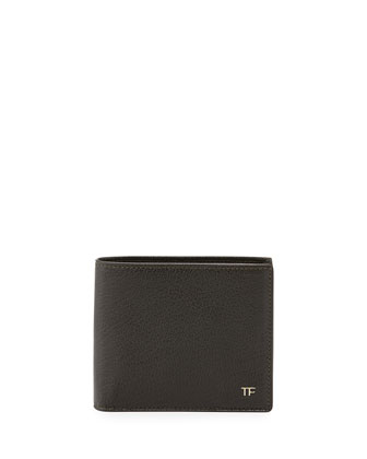 TF Leather Bi-Fold Wallet, Green