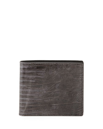 Lizard Bi-Fold Wallet, Dark Gray