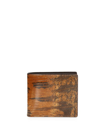 Lizard Bi-Fold Wallet, Brown