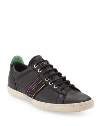 Osmo Leather Low-Top Sneaker, Black