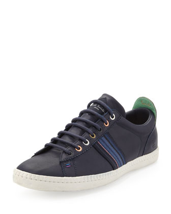 Osmo Leather Low-Top Sneaker, Navy