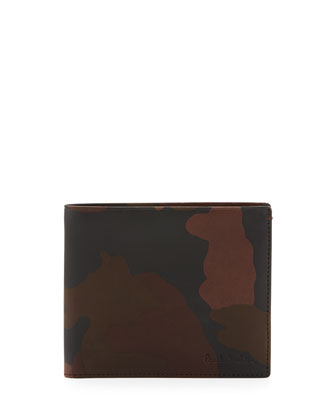 Men's Camo Leather Wallet