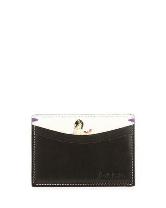 Men's Classic Lady Card Case, Black