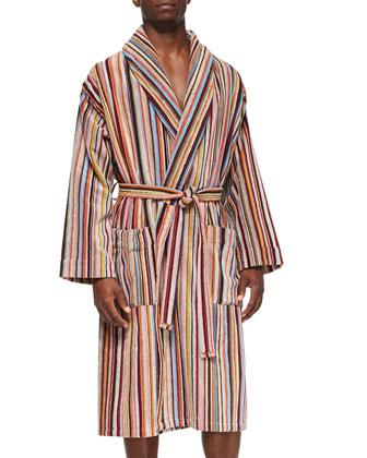Men's Multi-Striped Terry-Cloth Robe