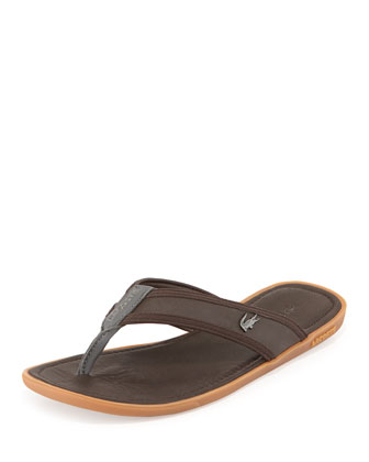 Carros Men's Thong Sandal, Brown