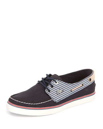 Sumac Striped Boat Shoe, Navy