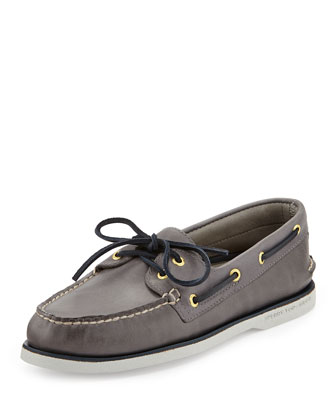 Gold Cup Authentic Original Boat Shoes, Gray