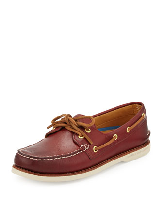 Gold Cup Authentic Original Boat Shoe, Brick