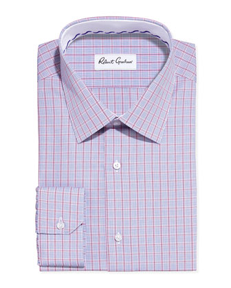Ben Plaid Dress Shirt, Berry
